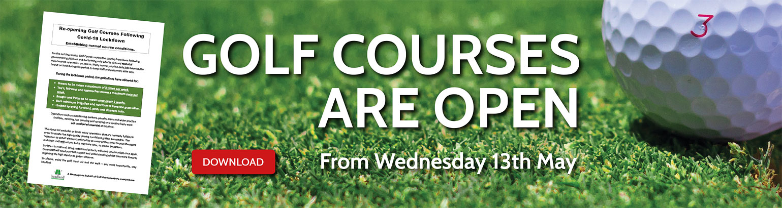 Golf Courses Open from Wednesday 13th May